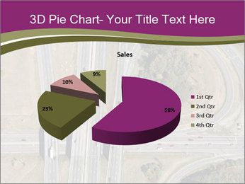Aerial View Of Highway PowerPoint Templates - Slide 35