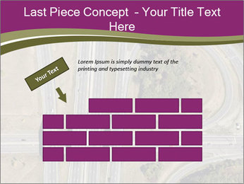 Aerial View Of Highway PowerPoint Templates - Slide 46
