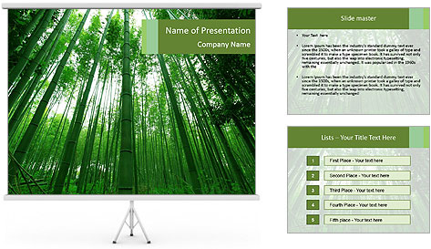 Green Landscape In Japan PowerPoint Template