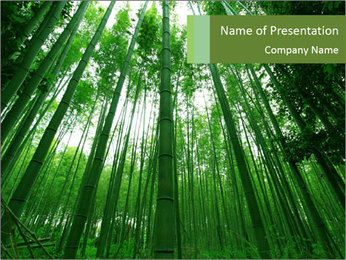 Green Landscape In Japan PowerPoint Templates - Slide 1