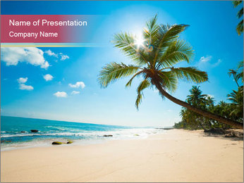 Perfect Beach PowerPoint Template - Slide 1