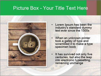 Black Coffee On Wooden Table PowerPoint Template - Slide 13