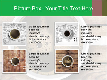 Black Coffee On Wooden Table PowerPoint Template - Slide 14