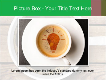 Black Coffee On Wooden Table PowerPoint Template - Slide 15