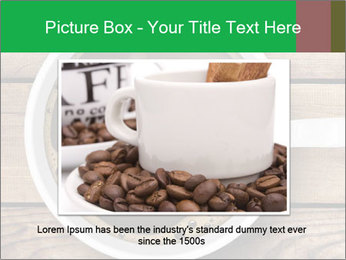 Black Coffee On Wooden Table PowerPoint Templates - Slide 16