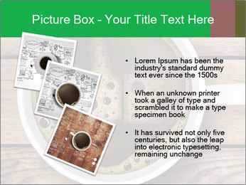 Black Coffee On Wooden Table PowerPoint Templates - Slide 17