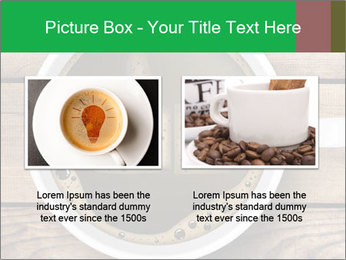 Black Coffee On Wooden Table PowerPoint Template - Slide 18