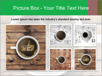 Black Coffee On Wooden Table PowerPoint Template - Slide 19
