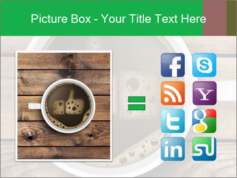 Black Coffee On Wooden Table PowerPoint Templates - Slide 21