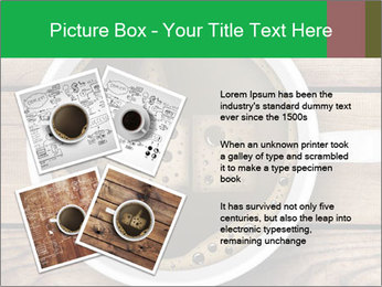 Black Coffee On Wooden Table PowerPoint Templates - Slide 23