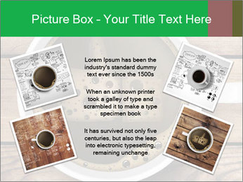 Black Coffee On Wooden Table PowerPoint Template - Slide 24