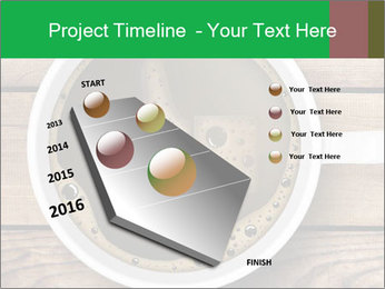 Black Coffee On Wooden Table PowerPoint Templates - Slide 26