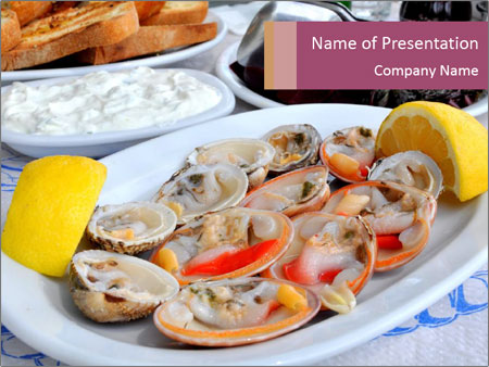 Fresh Oysters PowerPoint Templates