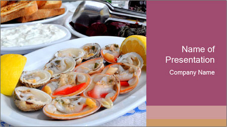 Fresh Oysters PowerPoint Template