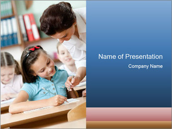 Primary School PowerPoint Template - Slide 1