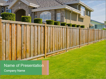 Huge Yard PowerPoint Template - Slide 1