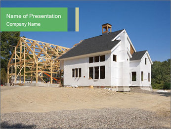 White Cottage PowerPoint Template - Slide 1