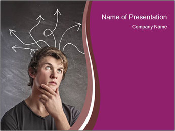 Doubting Young Man PowerPoint Template