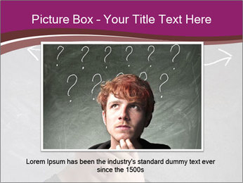 Doubting Young Man PowerPoint Templates - Slide 16