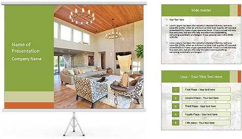 Cozy Livingroom PowerPoint Template