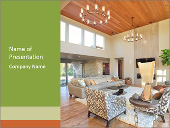Cozy Livingroom PowerPoint Template - Slide 1