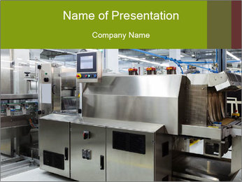 Automatic Factory PowerPoint Template - Slide 1