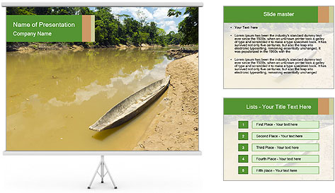 Boat In Amazon PowerPoint Template