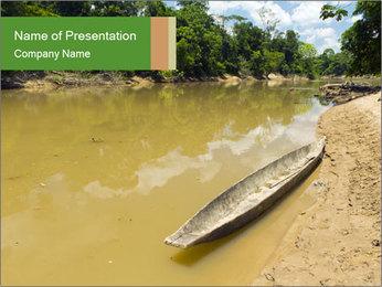 Boat In Amazon PowerPoint Templates - Slide 1