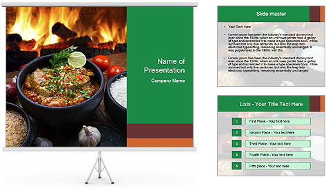Food And Fire PowerPoint Template