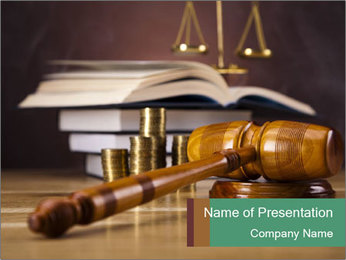 Books Of Laws PowerPoint Template