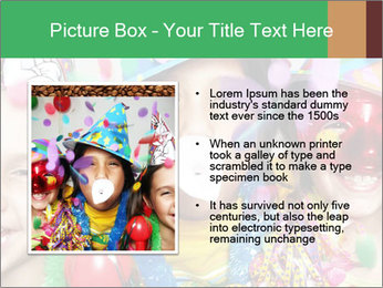 Children Wearing Carnival Hays PowerPoint Template - Slide 13