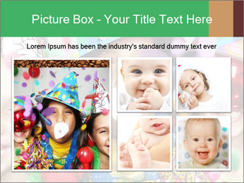 Children Wearing Carnival Hays PowerPoint Template - Slide 19