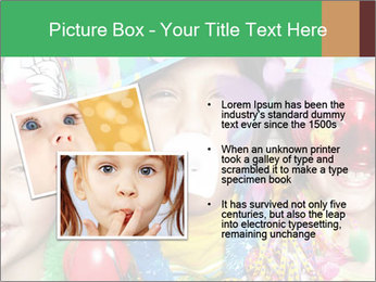 Children Wearing Carnival Hays PowerPoint Template - Slide 20