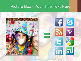 Children Wearing Carnival Hays PowerPoint Template - Slide 21