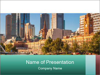 Melbourne City PowerPoint Template - Slide 1