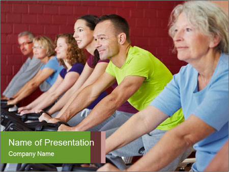 Gym For Cenior People PowerPoint Templates