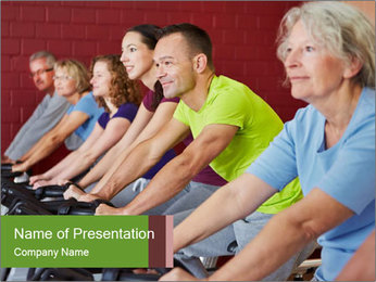 Gym For Cenior People PowerPoint Template - Slide 1