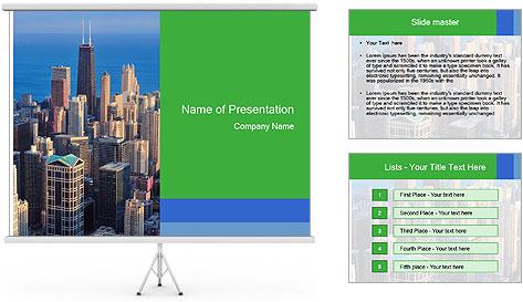 American Skyscrapers PowerPoint Template