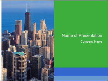 American Skyscrapers PowerPoint Template - Slide 1