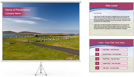 Seaside Landscape PowerPoint Template