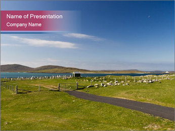 Seaside Landscape PowerPoint Template - Slide 1