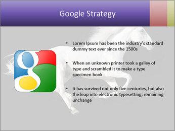 White Running Horse PowerPoint Templates - Slide 10