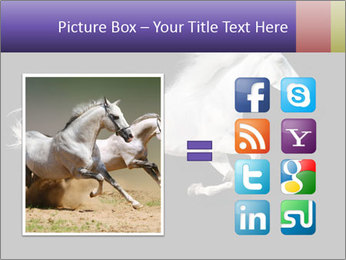 White Running Horse PowerPoint Template - Slide 21
