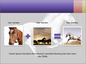 White Running Horse PowerPoint Template - Slide 22