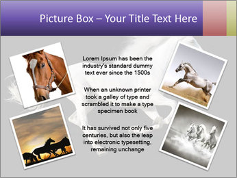 White Running Horse PowerPoint Template - Slide 24