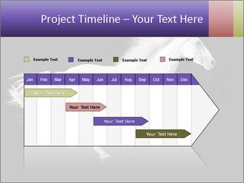White Running Horse PowerPoint Templates - Slide 25