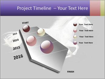 White Running Horse PowerPoint Templates - Slide 26