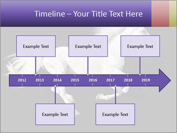 White Running Horse PowerPoint Templates - Slide 28