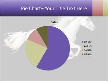 White Running Horse PowerPoint Template - Slide 36
