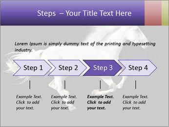 White Running Horse PowerPoint Templates - Slide 4